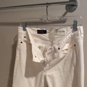 j crew white midrise toothpick jeans